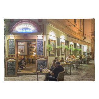 Tapas bar and restaurant placemat