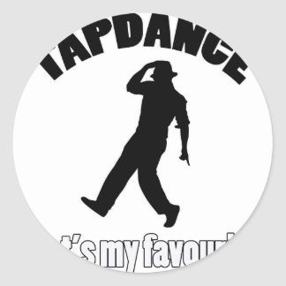 tapdance designss classic round sticker