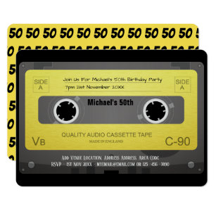 Cassette Tape Invitations Announcements Zazzle CA