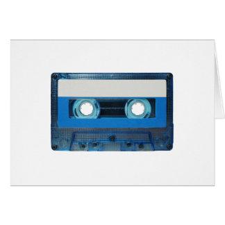 Tape cassette transparent background card