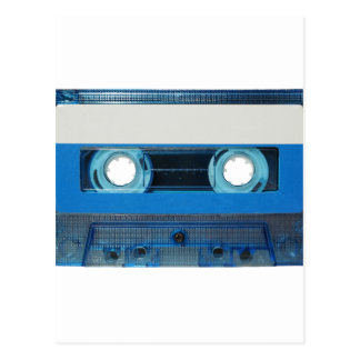 Tape cassette transparent background postcard