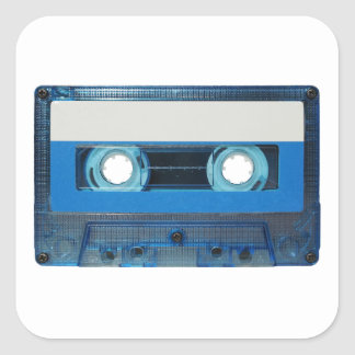 Tape cassette transparent background square sticker