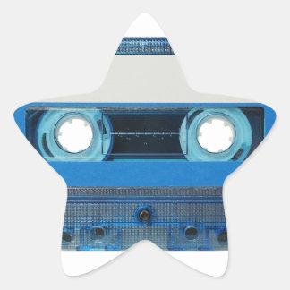 Tape cassette transparent background star sticker