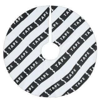 Tape logo brushed polyester tree skirt