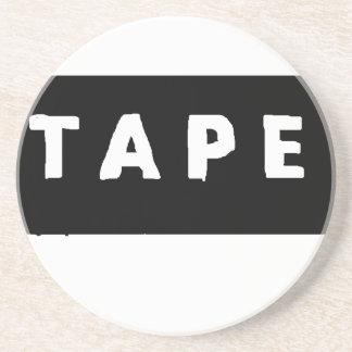 Tape logo coaster
