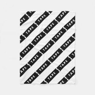Tape logo fleece blanket