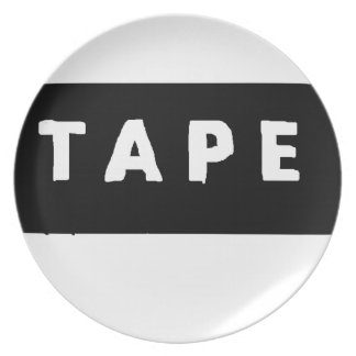 Tape logo plate