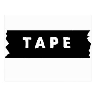 Tape logo postcard