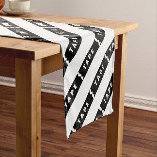 Tape logo short table runner