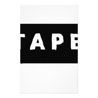 Tape logo stationery
