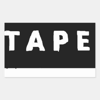 Tape logo sticker