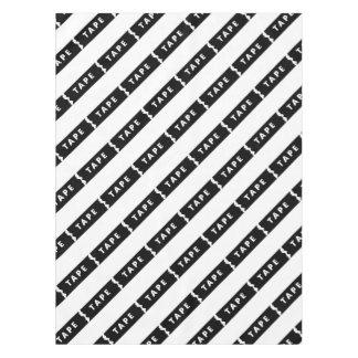 Tape logo tablecloth