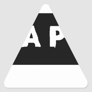 Tape logo triangle sticker