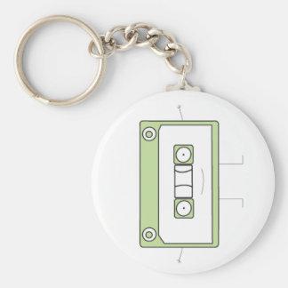 Tape Man Basic Round Button Keychain