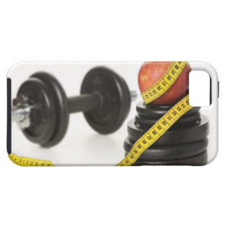 Tape measure, apple, dumbbell and weights case for the iPhone 5