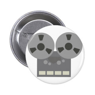Tape Player 2 Inch Round Button