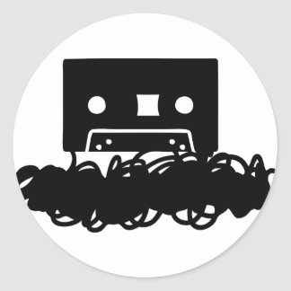tape spaghetti icon classic round sticker