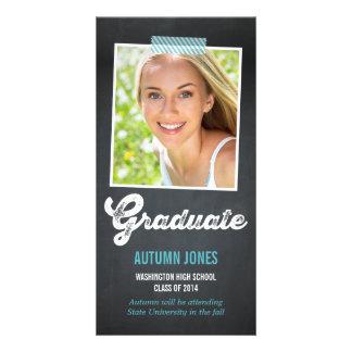 Taped Polaroid Graduation Announcement Photo Cards
