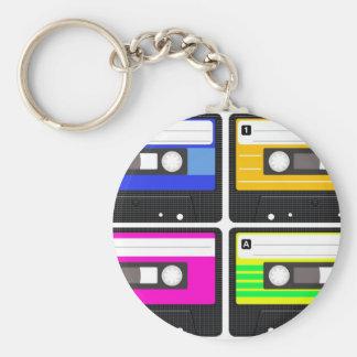Tapes Basic Round Button Keychain