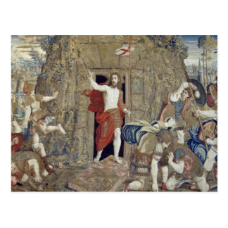 Tapestry depicting the Resurrection of Christ in Postcard