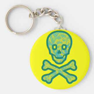 Tapestry Head Green Keychain