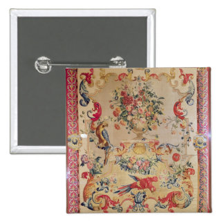 Tapestry in early Rococo style with strapwork and 2 Inch Square Button