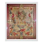Tapestry in early Rococo style with strapwork and Poster