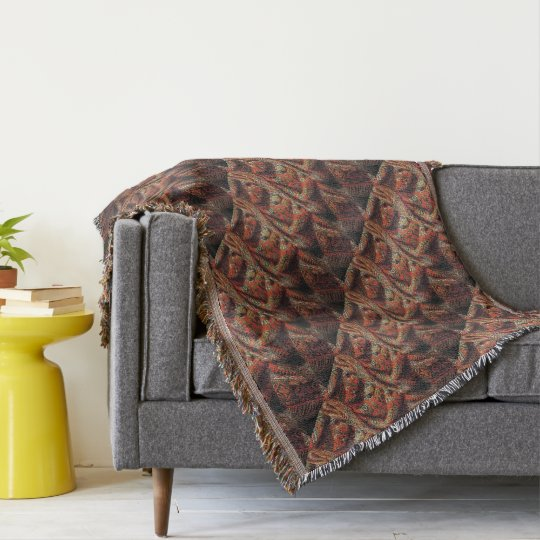 Tapestry look throw blanket