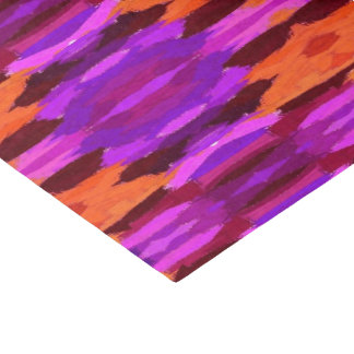 Tapestry of purple and orange tissue paper