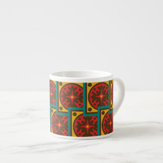 Tapestry pattern espresso cup