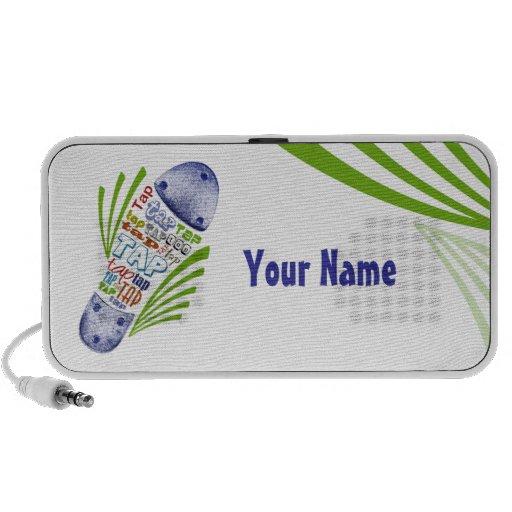 Tapez la chaussure avec votre nom haut-parleurs PC