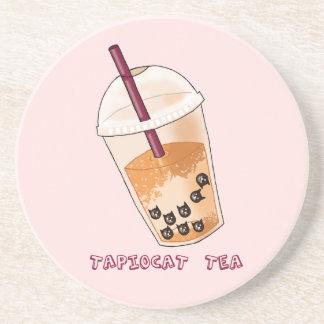 Tapiocat Tea Pun Illustration Coaster