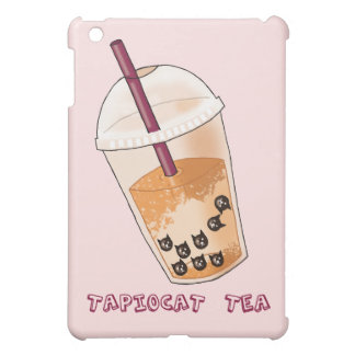 Tapiocat Tea Pun Illustration Cover For The iPad Mini