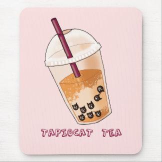 Tapiocat Tea Pun Illustration Mouse Pad
