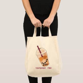 Tapiocat Tea Pun Illustration Tote Bag