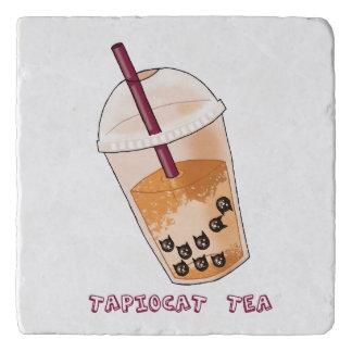 Tapiocat Tea Pun Illustration Trivet