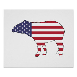 "Tapir ""American Flag"" Poster"