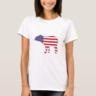 "Tapir ""American Flag"" T-Shirt"