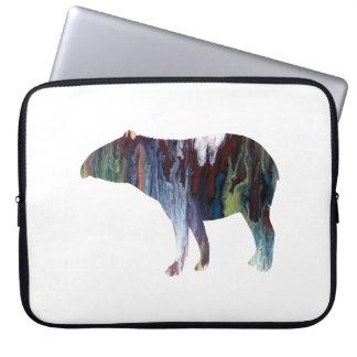 Tapir art laptop sleeve