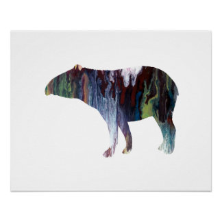 Tapir art perfect poster