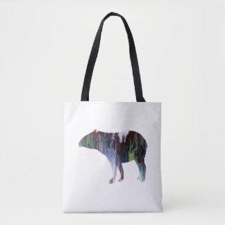 Tapir art tote bag