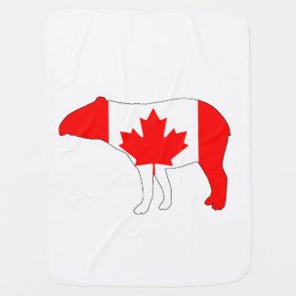 Tapir Canada Baby Blanket