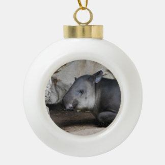 Tapir Ceramic Ball Christmas Ornament