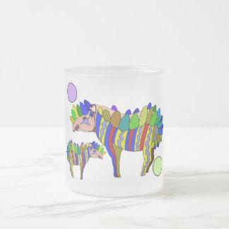 Tapir Frosted Glass Coffee Mug
