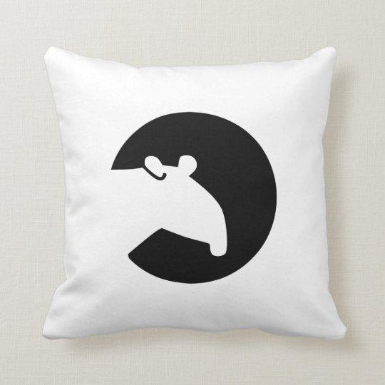Tapir moon throw pillow