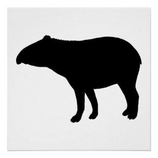 Tapir silhouette perfect poster