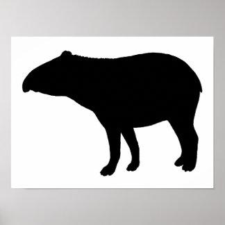 Tapir silhouette poster