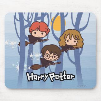 Tapis De Souris Bande dessinée Harry, Ron, et vol de Hermione en