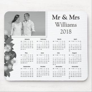 Tapis De Souris Calendrier 2018 noir et blanc de la photo   de