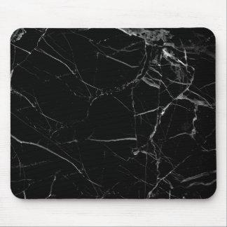 Tapis de souris de marbre noir minimaliste